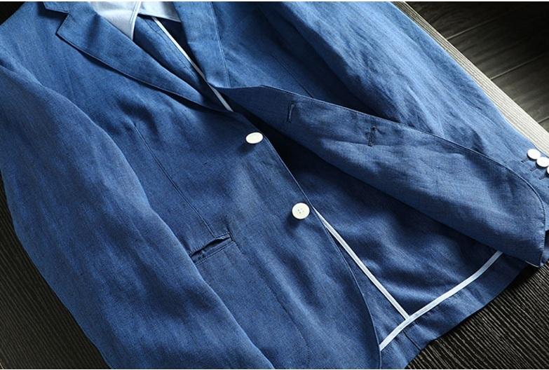2019夏新品★リネン 100% 高品質★ 紳士服 メンズ 紳士服 上着 ジャケット L_画像8