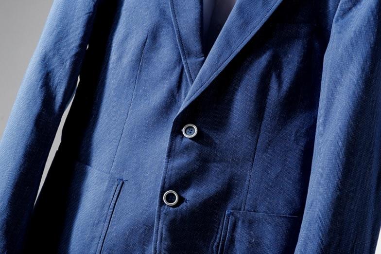 高品質★春夏新品 リネン& 綿 ストライプ 紳士服 メンズ 上着 ジャケット XL_画像5