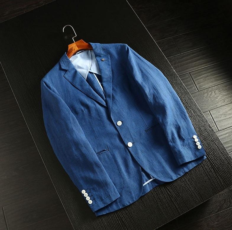 2019新品★リネン 100% 高品質★ 紳士服 メンズ 紳士服 上着 ジャケット XL