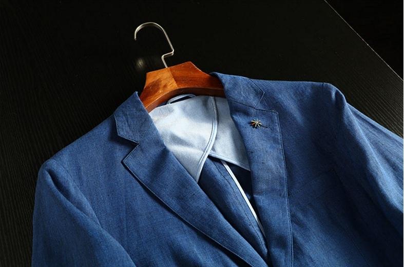 2019夏新品★リネン 100% 高品質★ 紳士服 メンズ 紳士服 上着 ジャケット L_画像5