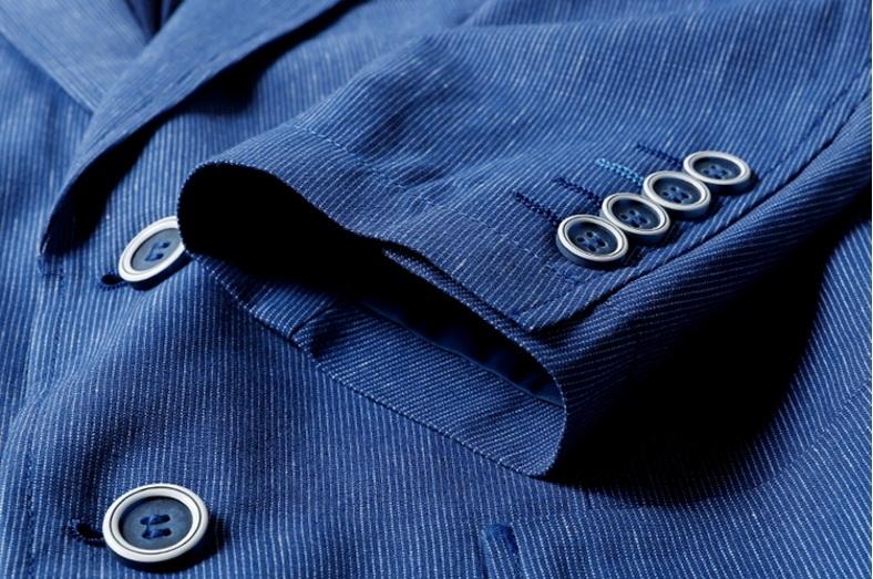 高品質★春夏新品 リネン& 綿 ストライプ 紳士服 メンズ 上着 ジャケット XL_画像7