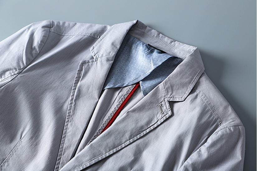 新入荷!春夏新品★100%綿★ 高品質★ 紳士服 メンズ 紳士服 上着 ジャケット 2色 3XL_画像4