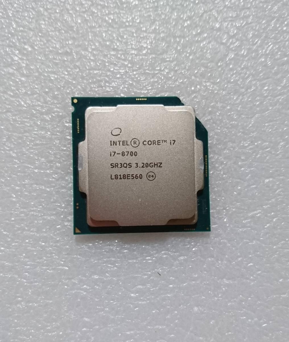 ☆ intel Core i7-8700 SR3QS 3.2GHz LGA1151 インテル CPU 第8世代 ☆