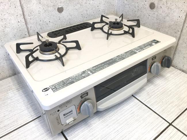 【送料無料1円~】18年製 ガスコンロ KGM562BEL リンナイ Rinnai 都市ガス C511-5
