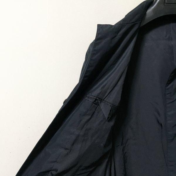 #UNITED ARROWS|ユナイテッドアローズ ポリエステルシングルコート/ステンカラーコート ダークネイビー/ブラック sizeM