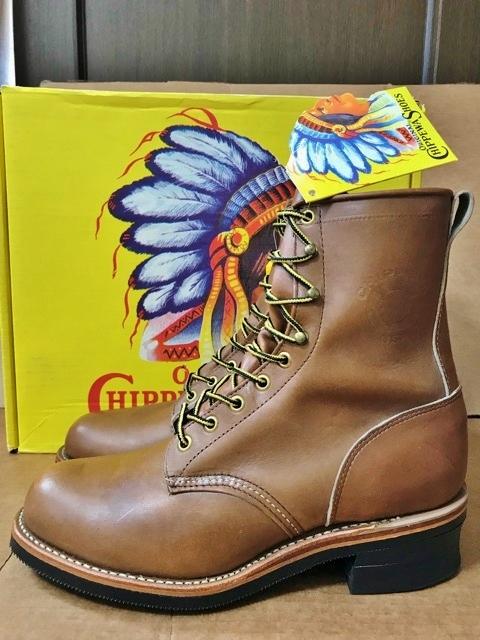 新品 チペワ 黒タグ オイルレザー ブーツ インディアン ネイティブ ワークブーツ アメリカ製 USA製 エンジニアブーツ レザーシューズ 革靴_画像2