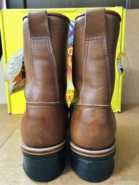 新品 チペワ 黒タグ オイルレザー ブーツ インディアン ネイティブ ワークブーツ アメリカ製 USA製 エンジニアブーツ レザーシューズ 革靴_画像7