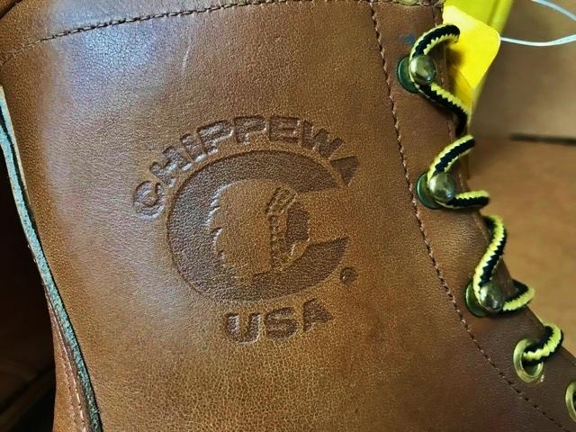 新品 チペワ 黒タグ オイルレザー ブーツ インディアン ネイティブ ワークブーツ アメリカ製 USA製 エンジニアブーツ レザーシューズ 革靴_画像3