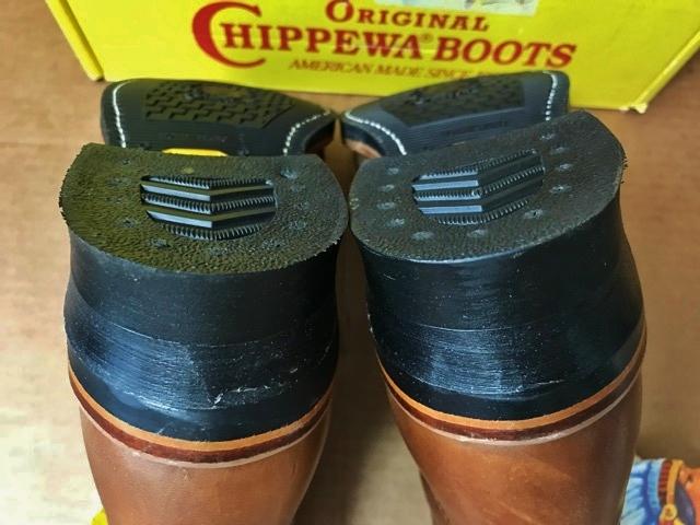 新品 チペワ 黒タグ オイルレザー ブーツ インディアン ネイティブ ワークブーツ アメリカ製 USA製 エンジニアブーツ レザーシューズ 革靴_画像9