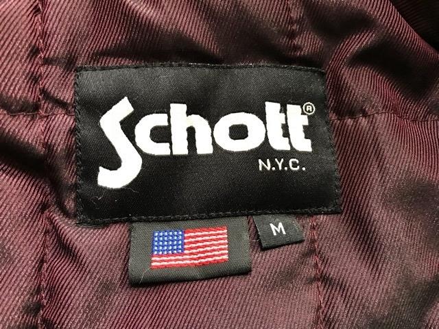 ショット schott NYC アメリカ ライダース レザージャケット 革ジャン バイカー ジャケット レザー フライトジャケット モーターサイクル_画像2