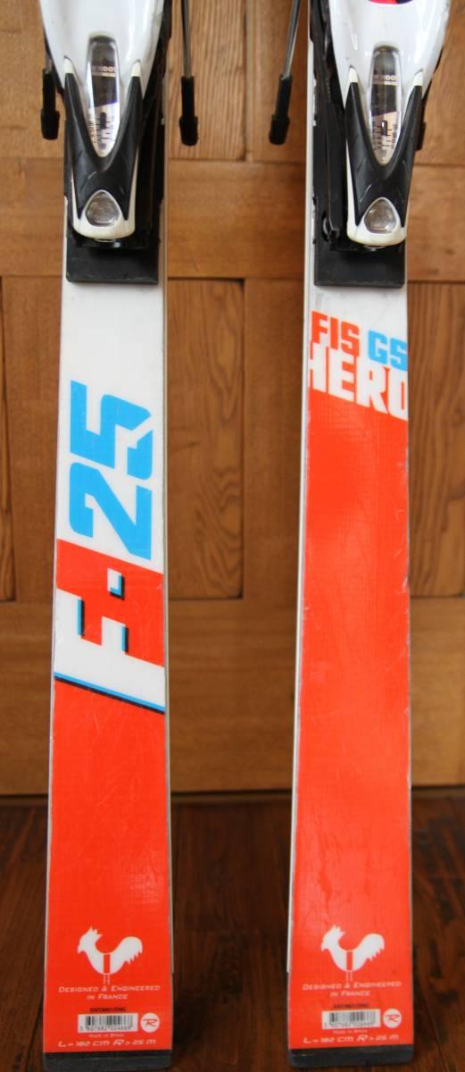 2017 Rossignol HERO R21 GS Skis 182cm 中古_画像4