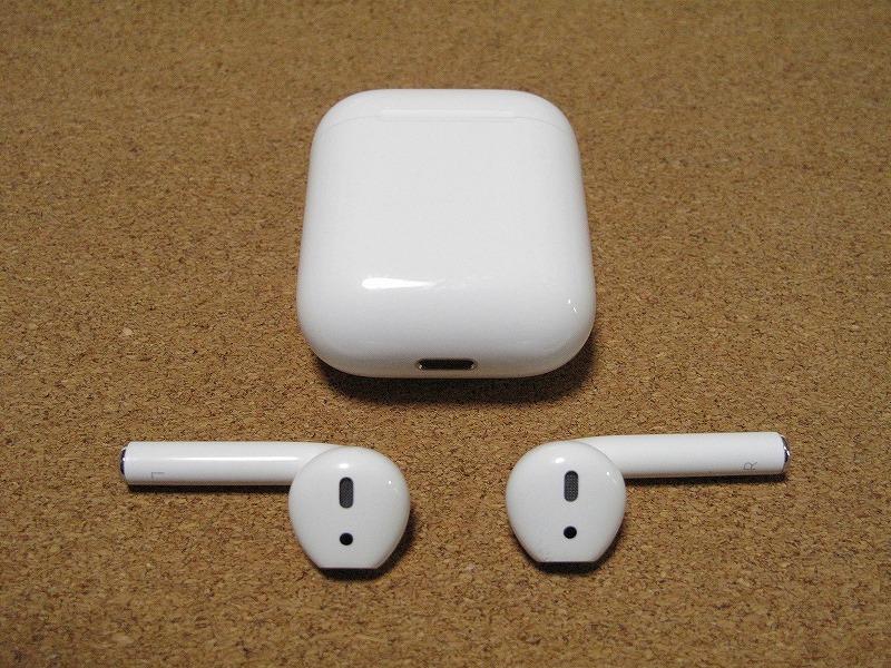 Apple アップル Air Pods エアーポッズ A1602 ワイヤレスイヤホン Bluetooth接続 MMEF2J/A シリコンケース付き