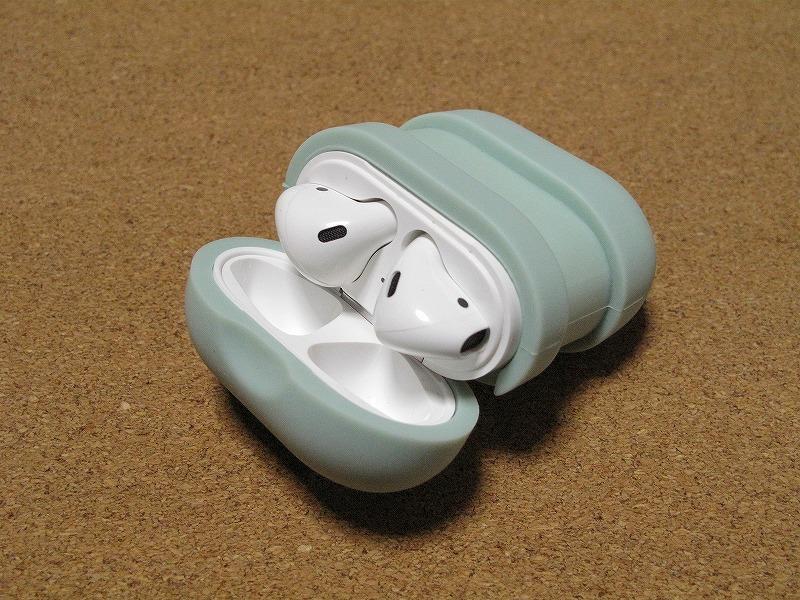 Apple アップル Air Pods エアーポッズ A1602 ワイヤレスイヤホン Bluetooth接続 MMEF2J/A シリコンケース付き_画像8
