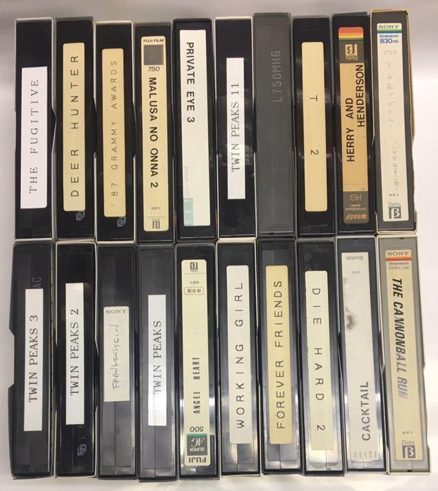 β ベータ ビデオ用 使用済み ビデオテープ 50本 種類/長さ色々 ジャンク品 カビ無し_画像4
