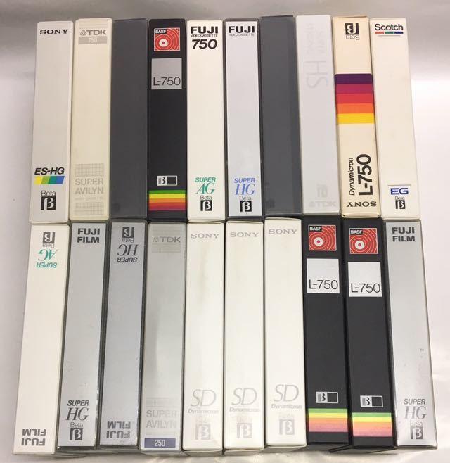 β ベータ ビデオ用 使用済み ビデオテープ 50本 種類/長さ色々 ジャンク品 カビ無し_画像3