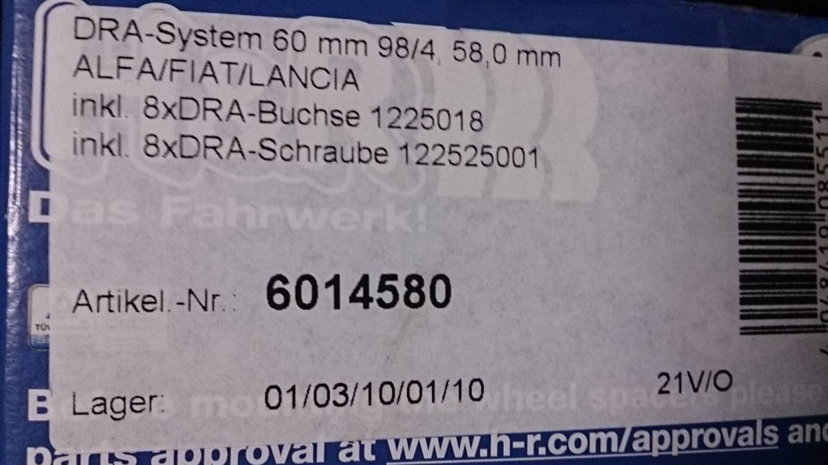 アバルト500 595 フィアット500 アルファロメオ PCD98 4H 30mm スペーサー_画像4