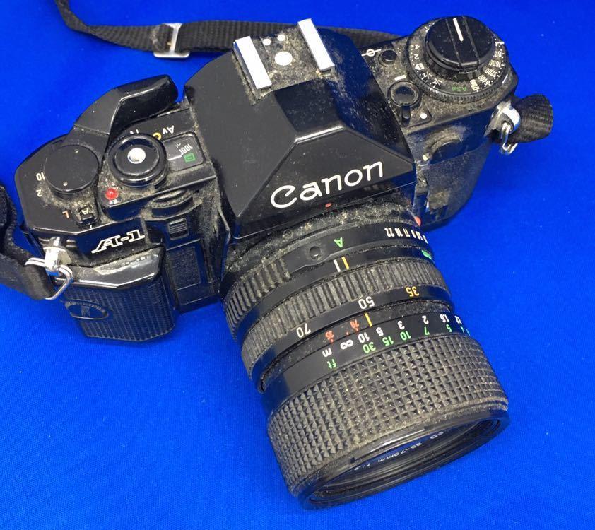 e 必見! 中古品 Canon A-1 キャノン CANON ZOOM LENS FD 35-70mm 1:3.5-4.5 動作未確認 ジャンク扱い !_画像3