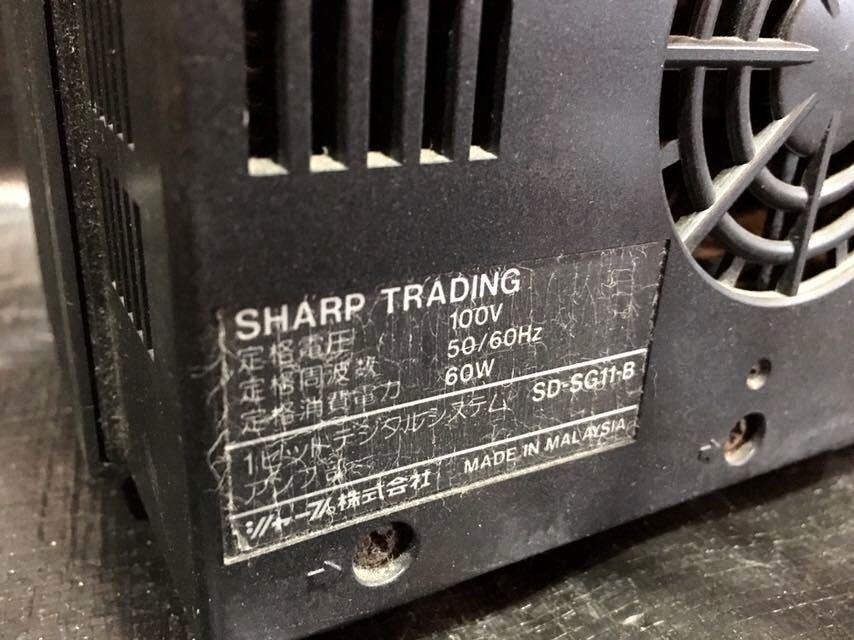 e 必見 ! 中古品 現状渡し SHARP シャープ 1ビットデジタルシステム SD-SG11-B CD/MD オーディオ 音響機器 動作未確認 ジャンク扱い !_画像6