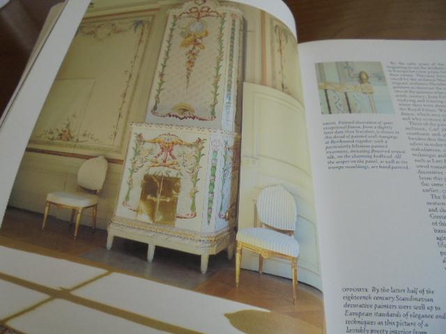 洋書Scandinavian Painted Decor  スカンジナビアンの装飾ペイント 家具 壁 天井 トールペイント ステンシル_画像2