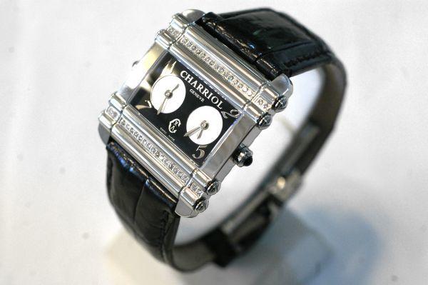 ○新品同様 CHARRIOL シャリオール CDT-82-1-81-DT01 アクター デュアル タイム ダイヤ レディース 腕時計 クオーツ T0066_画像2
