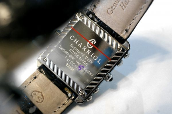 ○新品同様 CHARRIOL シャリオール CDT-82-1-81-DT01 アクター デュアル タイム ダイヤ レディース 腕時計 クオーツ T0066_画像8