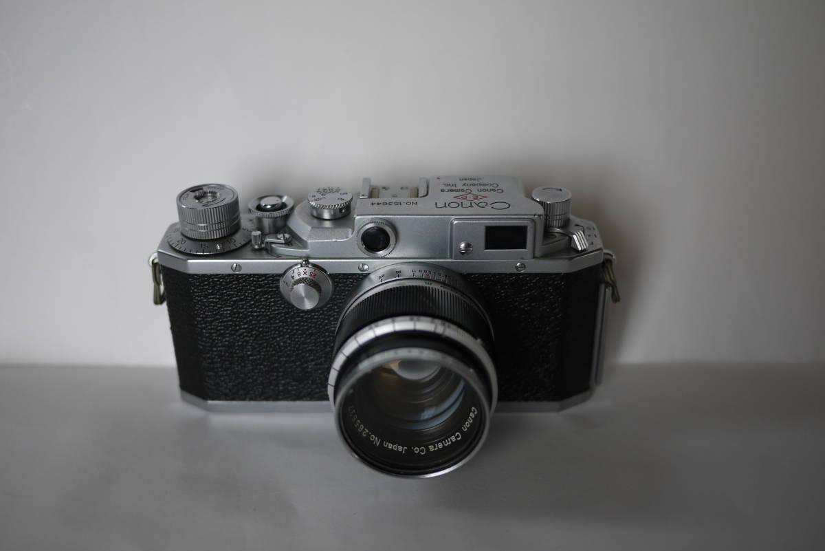 キヤノン 4sb 50mm F1.8 バルナックライカ型カメラ  点検済、動作良好 レンズ美品 即撮影可能