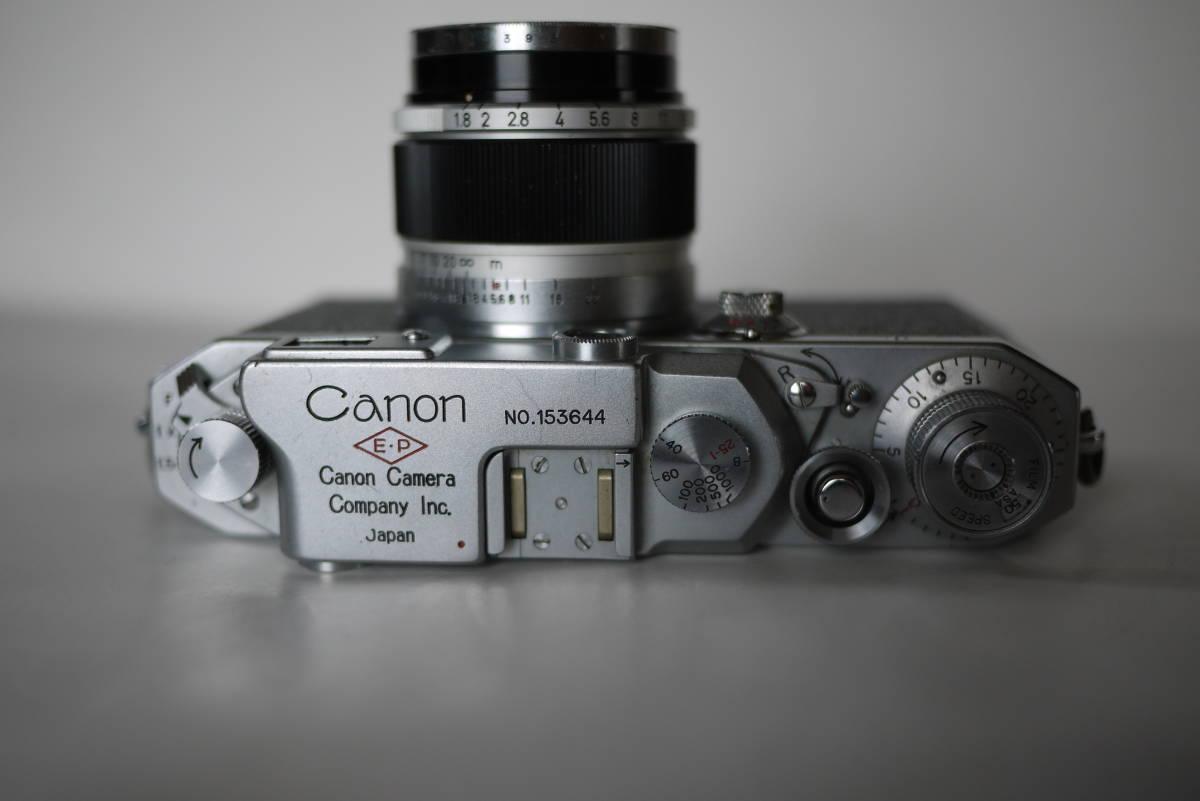 キヤノン 4sb 50mm F1.8 バルナックライカ型カメラ  点検済、動作良好 レンズ美品 即撮影可能  _画像3