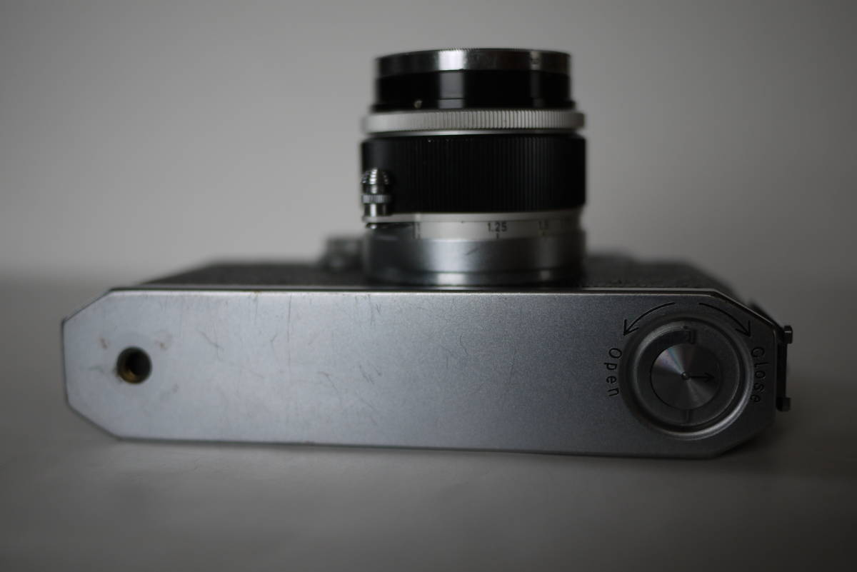 キヤノン 4sb 50mm F1.8 バルナックライカ型カメラ  点検済、動作良好 レンズ美品 即撮影可能  _画像6