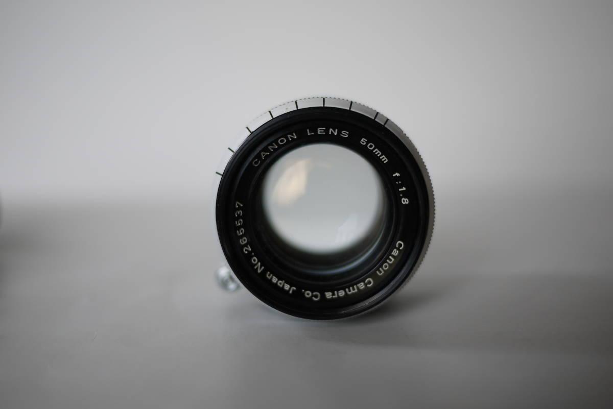 キヤノン 4sb 50mm F1.8 バルナックライカ型カメラ  点検済、動作良好 レンズ美品 即撮影可能  _画像8