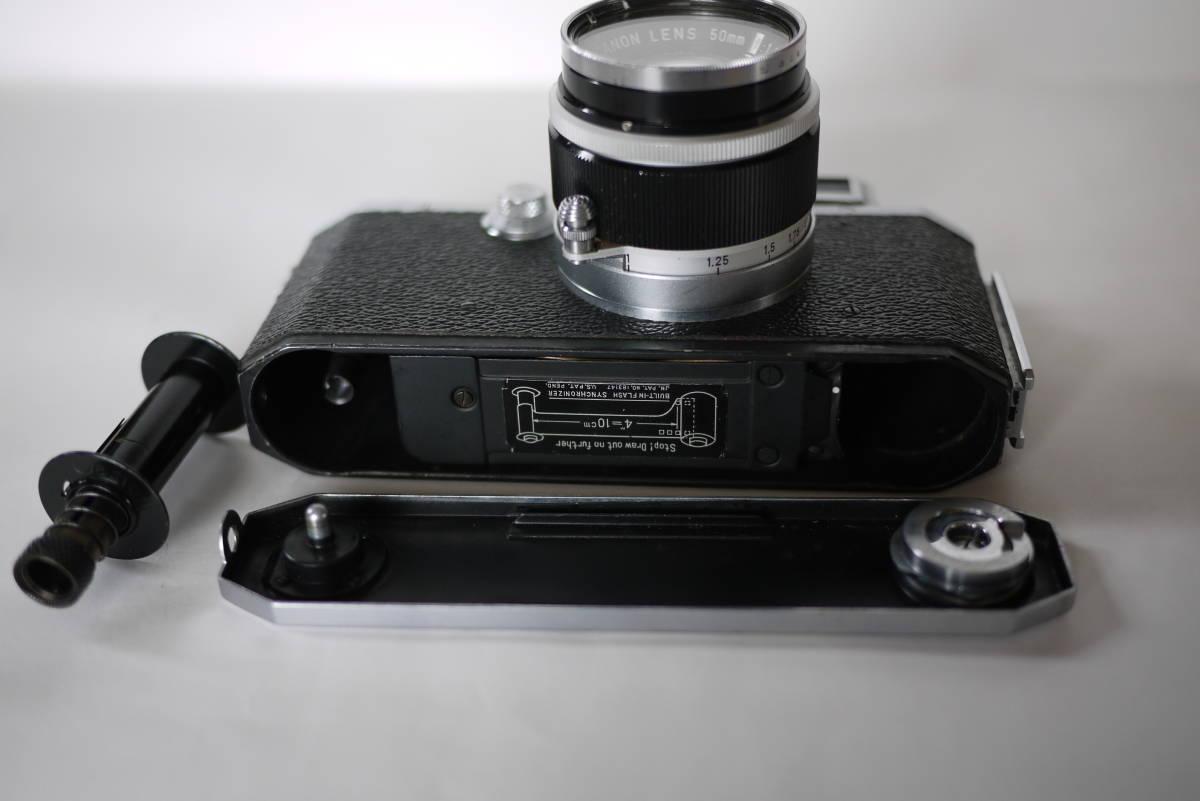 キヤノン 4sb 50mm F1.8 バルナックライカ型カメラ  点検済、動作良好 レンズ美品 即撮影可能  _画像7