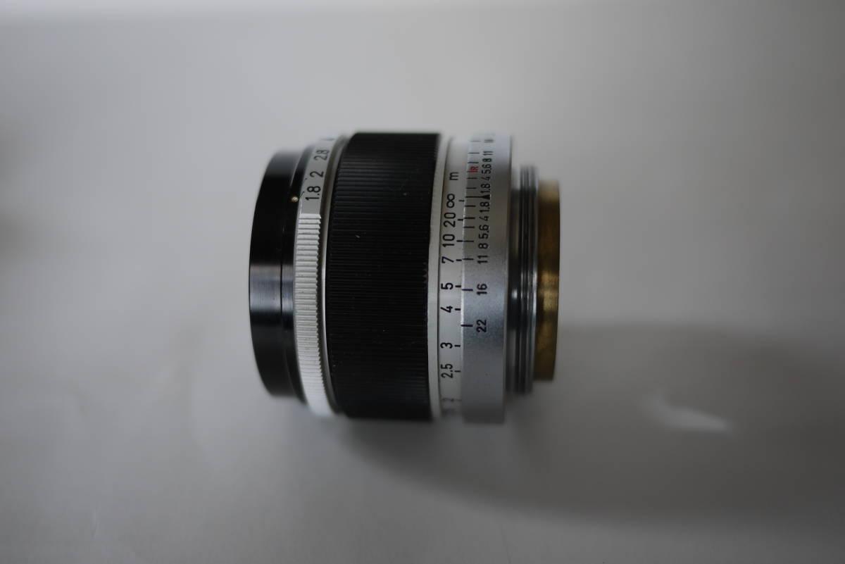 キヤノン 4sb 50mm F1.8 バルナックライカ型カメラ  点検済、動作良好 レンズ美品 即撮影可能  _画像10