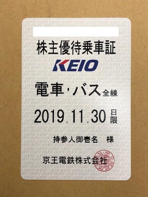 ★送料無料★ 京王電鉄 株主優待乗車証 電車・バス全線 定期タイプ 最新 ◆大黒屋◆