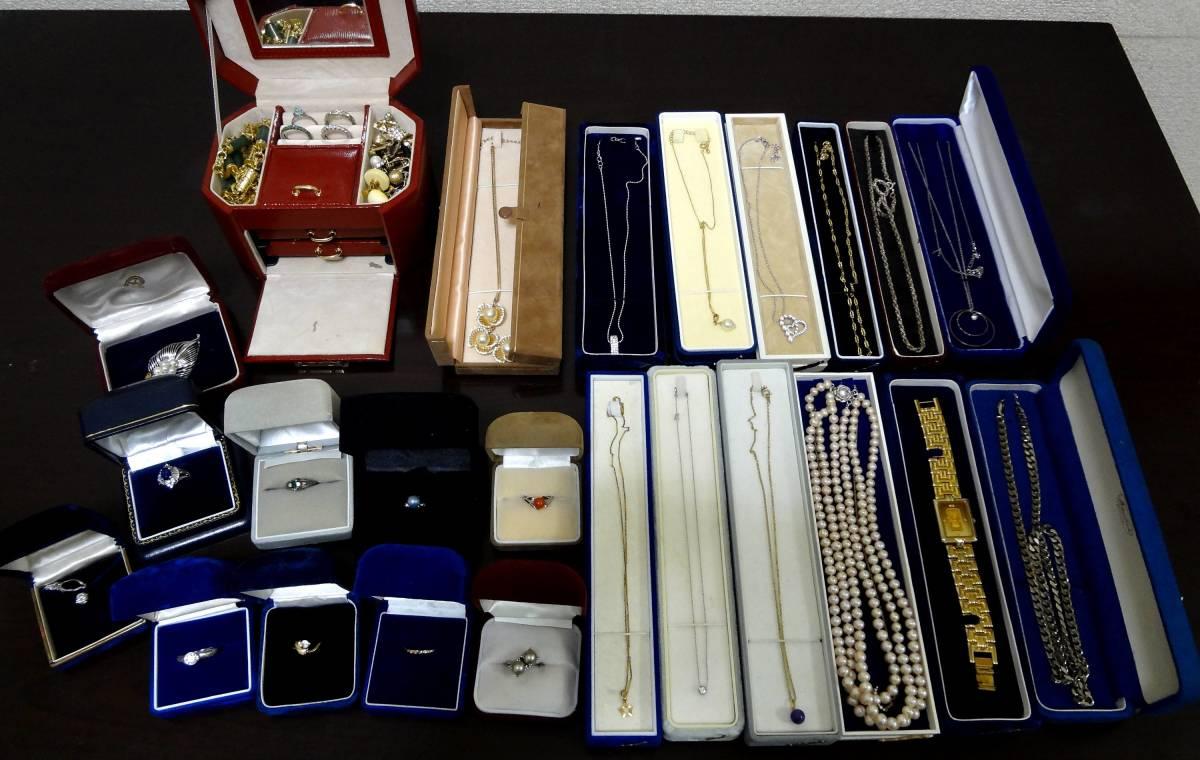 宝石 装飾品 遺品整理品含む pt850・K18・K14・K10・SILVER・その他 アクセサリー 指輪 ネックレス イヤリング ブローチ等 まとめて 大量