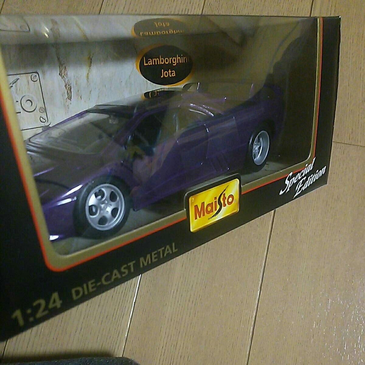 マイスト『1:24 ランボルギーニ イオタ』未開封 未使用品 ダイキャスト Maisto Lamborghini Jota 1/24_画像4