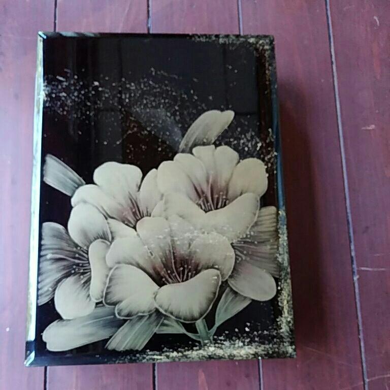 漆塗り、文箱、ナシジ、花沈金でほつてます。_画像3