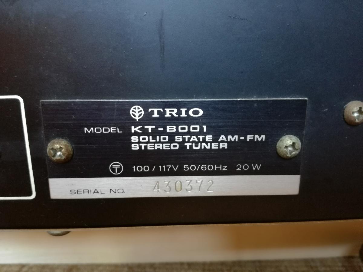 TRIO チューナー KT-8001_画像6