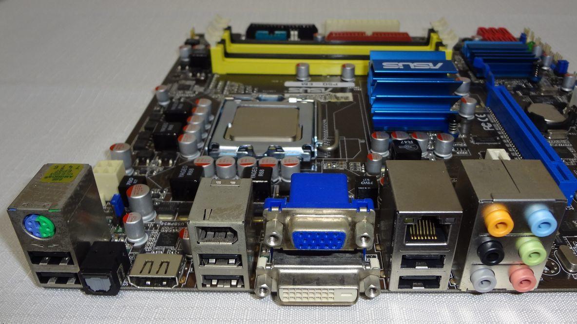ASUS P5Q-EM Core2 Duo E8500 LGA775 Micro ATX マザーボード_画像2