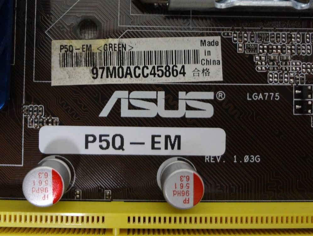 ASUS P5Q-EM Core2 Duo E8500 LGA775 Micro ATX マザーボード_画像3