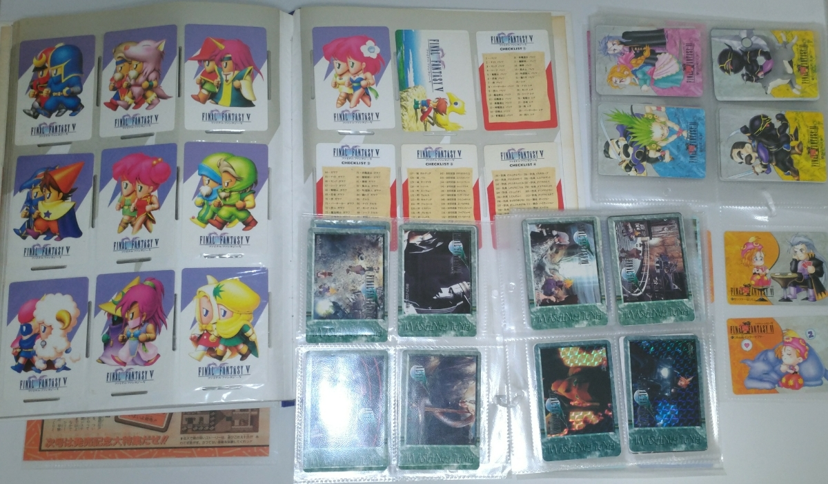 ファイナルファンタジー FF 5 6 7 カードダス ファイル ホログラム コンプリート 雑誌 コレクション アートミュージアム カード グッズ_画像5