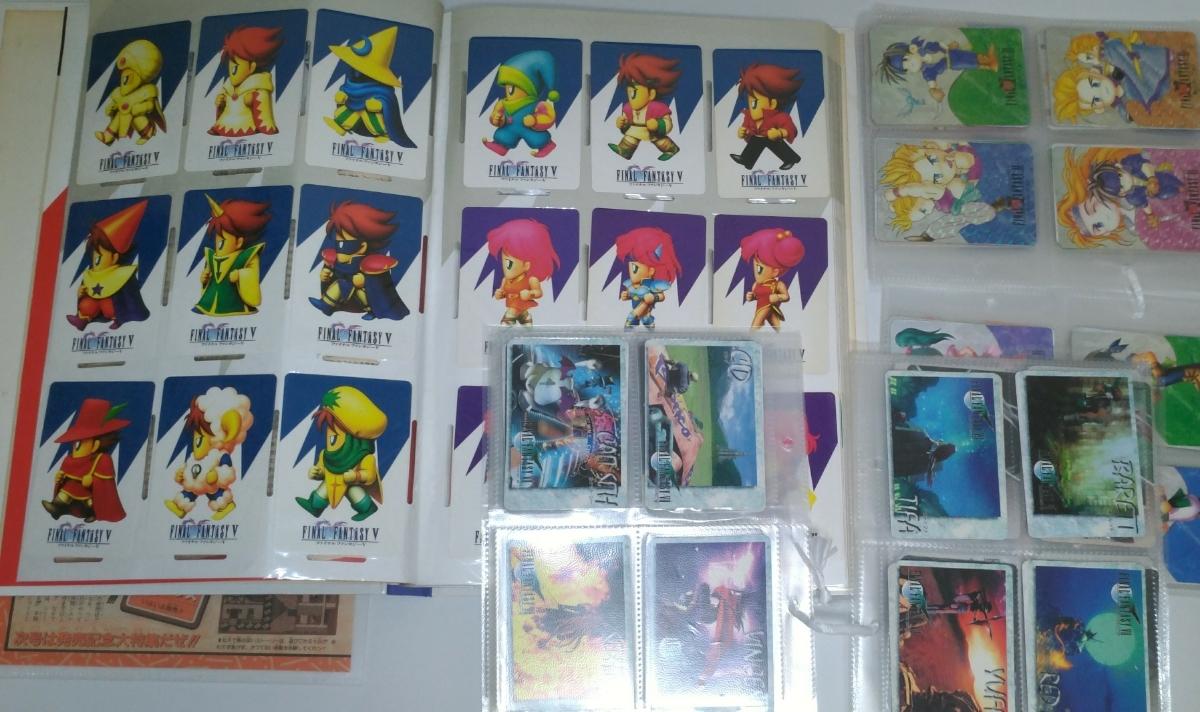 ファイナルファンタジー FF 5 6 7 カードダス ファイル ホログラム コンプリート 雑誌 コレクション アートミュージアム カード グッズ_画像4