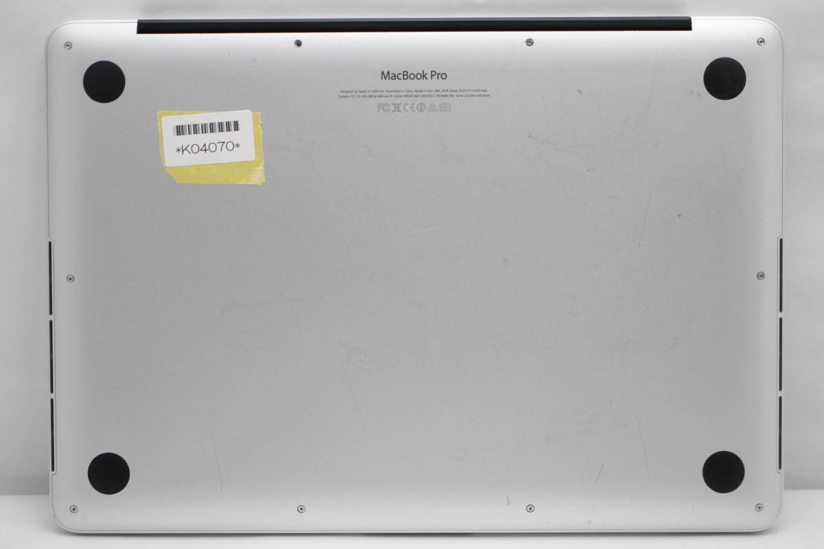 ジャンク Apple MacBook Pro (Retina, 13-inch, Late 2013) K04070_画像5