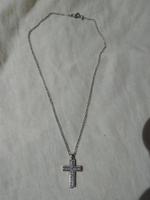 ブルガリ クロス ネックレス ホワイトゴールド ダイヤ