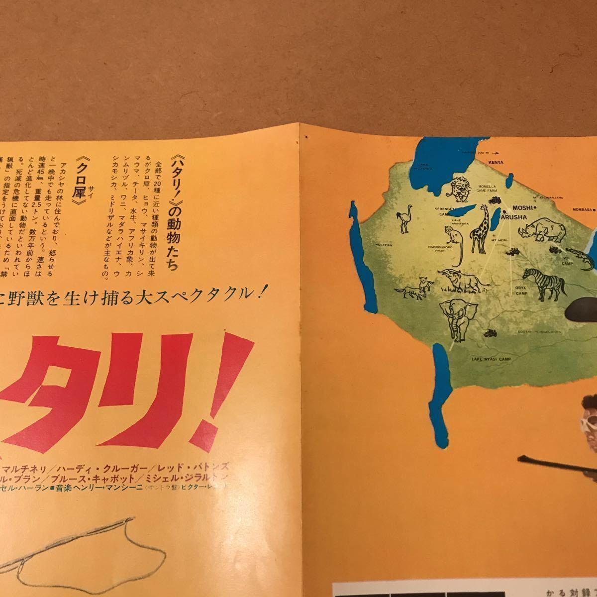 【映画チラシ】『ハタリ!』1962年初公開作品 主演:ジョン・ウェイン 通常B5版2枚折チラシ_画像5