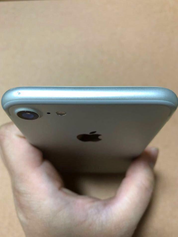 【1円スタート】美品 iPhone7 32GB 本体 シルバー SIMロック解除済み SIMフリー_画像4