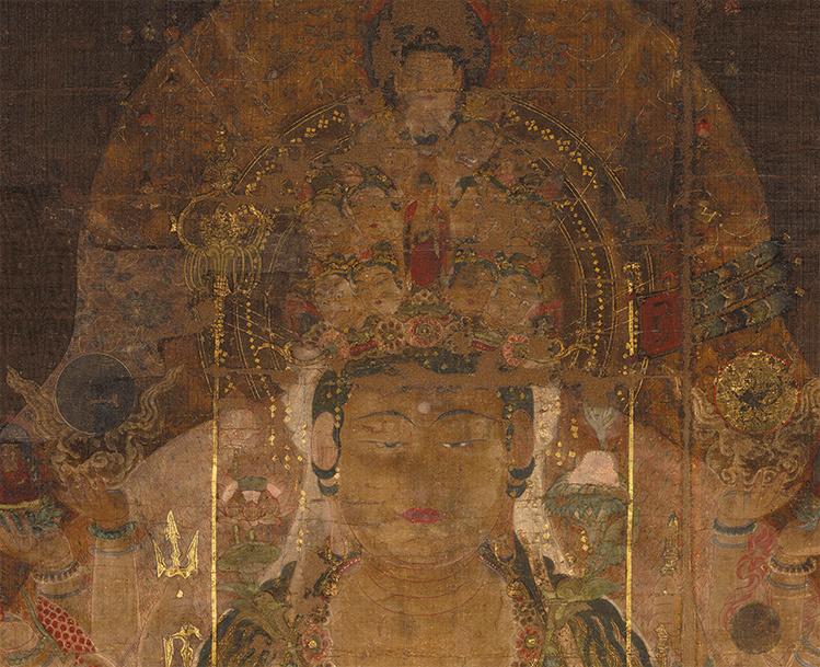 中国美術 骨董品「千手観音」仏教画/人物画 絹本 仏教美術 大珍品 _画像2