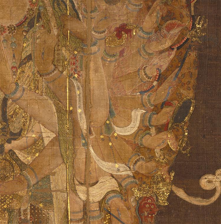 中国美術 骨董品「千手観音」仏教画/人物画 絹本 仏教美術 大珍品 _画像3