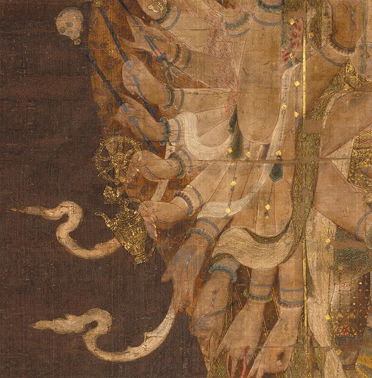 中国美術 骨董品「千手観音」仏教画/人物画 絹本 仏教美術 大珍品 _画像4