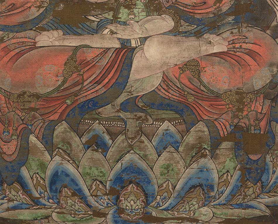 中国美術 骨董品「般若菩薩像」仏教画/人物画 仏教美術 大珍品 _画像4