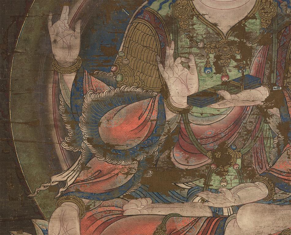 中国美術 骨董品「般若菩薩像」仏教画/人物画 仏教美術 大珍品 _画像3
