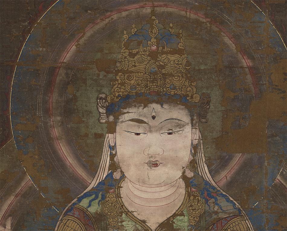 中国美術 骨董品「般若菩薩像」仏教画/人物画 仏教美術 大珍品 _画像2